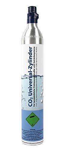 Soda Zylinder/CO2 Kartusche/60 Liter Reserve-Gaskartusche für Wassersprudler z.B. Soda Stream/gefüllt mit 425g Kohlensäure (1)
