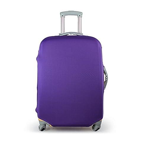 Housse de bagage Housse de Protection durable lavable Couverture Elastique protection de valise pour 18-28 pouces (M(22'') (VIOLET (M))