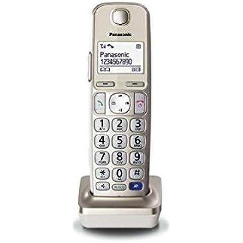 Panasonic KX-TGEA20EXN - Teléfono fijo digital (inalámbrico), plateado