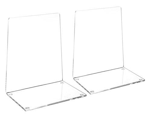 Maul Buchstütze, Klares Acryl, Mit Oberflächenschutz, 13,6 x 9,3 x 15,8 cm (LxBxH), 1 Paar
