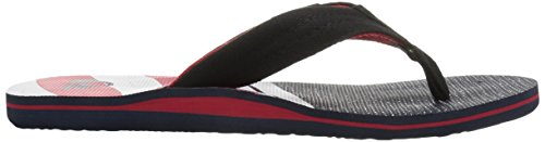 Quiksilver - Sandales Molokai Layback Hommes - White/Blue/Red