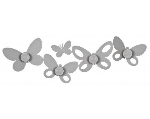 ARTI E MESTIERI Appendiabiti Butterfly colore alluminio