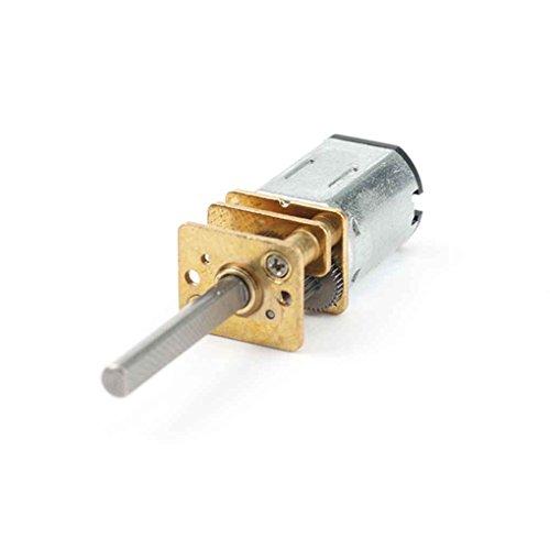 Pandiki 30rpm-1000RPM 20mm lange Achse N20 Getriebemotor Miniatur-DC 6V Verzögerung Motor für elektronische Schlösser Roboter