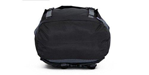 LQABW Bergsteigen Im Freien Reit Schulter-Spielraum Männer Und Frauen 50L Oxford Tuch Atmungsaktive Wasserdichte Wanderrucksack Tasche Pink