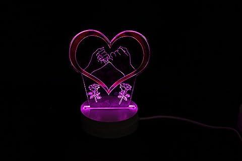SDKIR-3D kleine Nacht Lampe LED-Nachtlicht Lampe 3D Vision Weihnachten Deko Lampe bunten Packungen, 5.