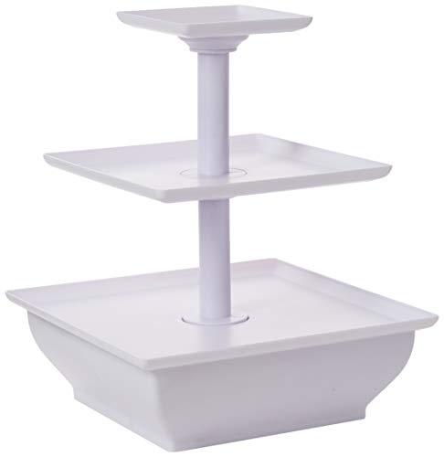 Taylor & Brown® support à gâteau à 3 niveaux blanc, plastique, pour cupcakes, fête de mariage, présentoir à dessert