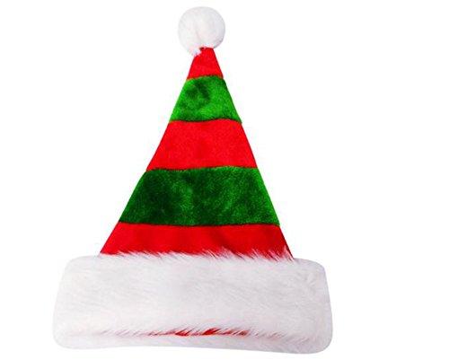 Demarkt Weihnachtsmann Mütze Weihnachtsmützen Weihnachten Hut Mütze Grün und Rot 45x30cm