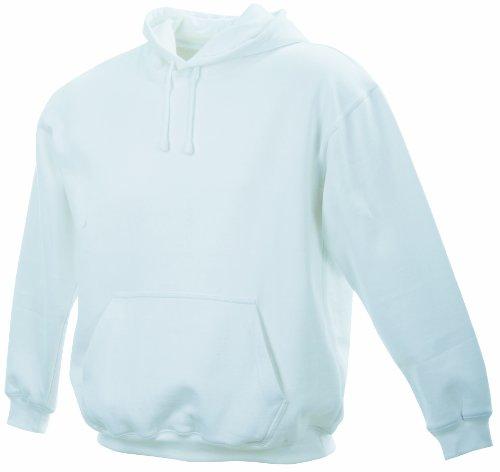James & Nicholson Unisex Kapuzenpullover Sweatshirt Hooded Sweat Weiß (white)