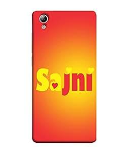 PrintVisa Designer Back Case Cover for Vivo Y51 :: VivoY51L (Sajni In Red And Yellow Design)