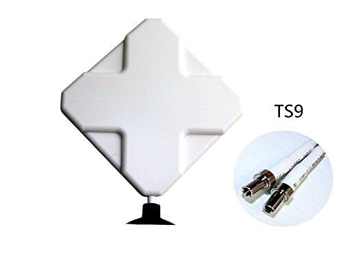 HUACAM HTM9 4G Hochleistungs LTE Antenne 35dBi, Dual Mimo Verstärker-Antenne Signalverstärker für Wifi Router Mobiles Breitband, Huawei E5372 E398 E3276 E392 E3272 E8278 R212 MF93 R215 etc (TS9)