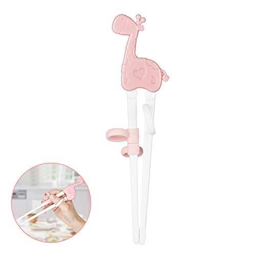 EQLEF® Kids Stäbchen Training, Cute Learning Stäbchen mit Training Grip für Kinder und Anfänger Lernen, Essstäbchen zu Verwenden(Grün)