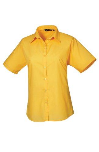Premier Workwear Ladies Short Sleeve Poplin, Blouse Femme sunflower