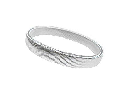 Cupcinu Frühling Armband Barkeeper Anti-Rutsch-Manschette Armband Herren Armband (Silber)