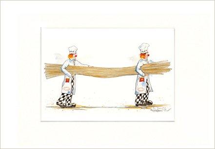 Spaghetti 2, image avec clown, simili pression dans le cadre photo Passe-partout 20x 30cm