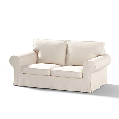 Ektorp Sofa (Dekoria Ektorp 2-Sitzer Schlafsofabezug ALTES Modell Sofahusse passend fr IKEA Modell Ektorp naturweiß)