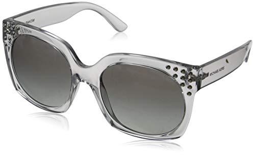 Michael Kors Damen Destin 334711 56 Sonnenbrille, Clear Crystal/Lightgreygradient