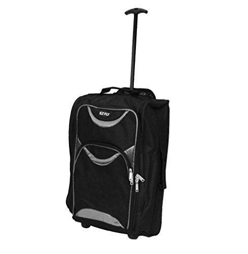 ryanair-cabin-approved-travel-trolley-bags-hand-luggage-suitcase-flight-bag-black-silver