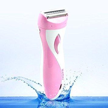 Boas Kemei Beauty Shaver 3 Blade Wet/ Dry Personal Groomer Waterproof Lady Shavers For Ladies (Us Plug Pink)