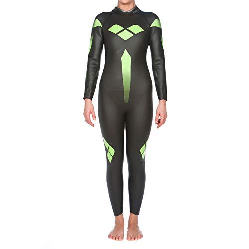 arena Damen Profi Triathlon Neoprenanzug (Optimale Wasserlage, Verbesserte Bewegungsfreiheit), Black (50), XS
