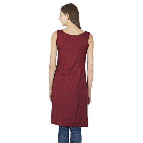 Indian Cotton Kurti Designer Asymmetrische Kurta beiläufige Frauen TopTunic Partei-Kleid Kastanienbraun