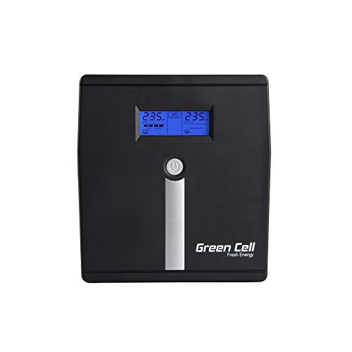 Green Cell UPS USV Unterbrechungsfreie Stromversorgung 1000VA (700W) 230V 1000VA-1999VA Pure Sine Wave USB Type B 2X Schuko