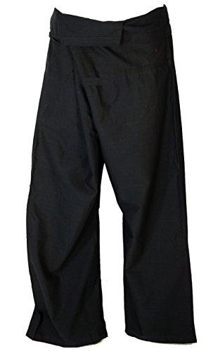 Guru-Shop Pantaloni da Pescatore Thailandese in Cotone Dimensione Indumenti:One Size Blu Pantaloni da Yoga Pantaloni a Portafoglio Pantaloni da Pescatore Pantaloni da Yoga