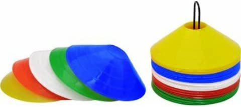 Arnav Plastic Disc Saucer Marker/Marking Cone for Practice Pack of25 with Stand