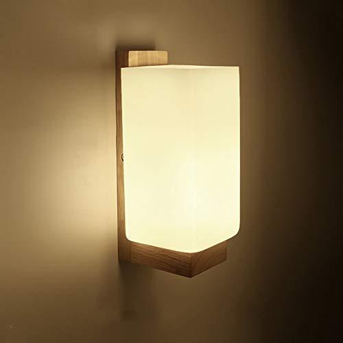 L.W.SURL Moderne Wandleuchte Leuchten Lámpara de Pared de Cristal de Madera Maciza...