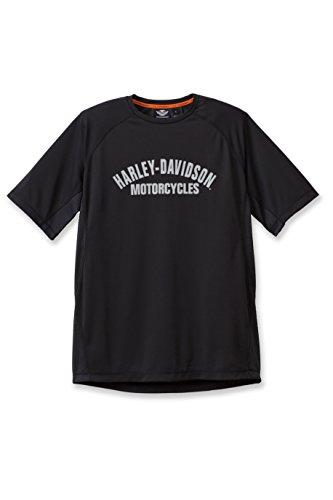 Harley-Davidson Crew Performance Tee with Mesh 193G-HA0D Herren Shirt, schwarz, S (Crew T-shirt Performance)