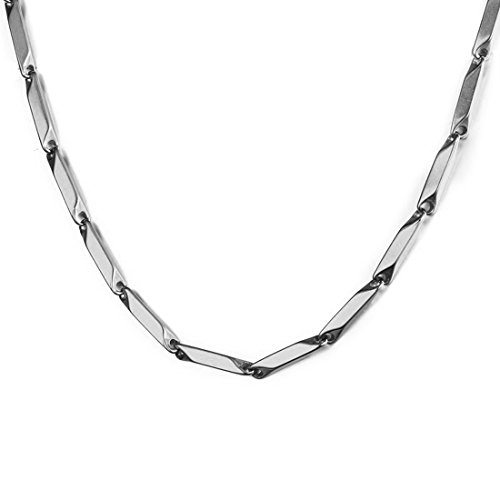 NAKABH, Stainless Steel Chain Necklace for Men, (NAK-1700102, Silver)