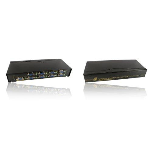 A 8 porte, SVGA, VGA & Audio Stereo con Jack da 3,5 mm, NEWLink-Scatola Splitter
