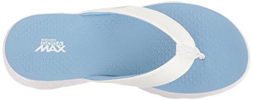 Skechers, Damen - Zehentrenner, 14658 WLB (36 EU, weiß/blau) -