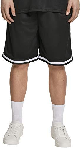 Urban Classics Herren Premium Stripes Mesh Shorts, Schwarz (Black 00007), W(Herstellergröße: L) -
