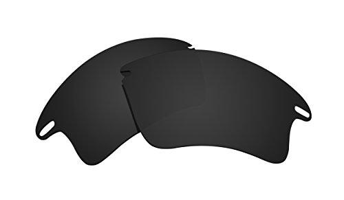Schwarz Polarisierte Ersatz Gläser für Oakley Fast Jacket XL Sonnenbrille