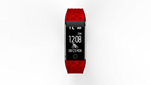 Qunlei 2018 NEW Fitness Tracker With Heart Rate Watch And Blood Pressure Monitor IP67 Waterproof BluetoothStep Counter Watch Pedometer Sleep Monitor Smart Watch For Women Men Kids For Android IOS Phon