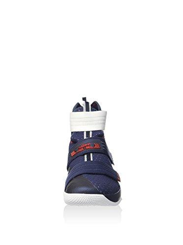 Nike Herren Lebron Soldier 10 Sfg Basketballschuhe, Weiß / Silberfarben Metallisch Schwarz (black (Obsidian / weiß-Uni - Netz))