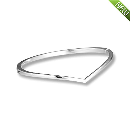 PANDOCCI 2019 frühling glänzende Wunsch armreif 925 Silber DIY passt für original Pandora armbänder Charme modeschmuck (19CM) (Armreif 925 Pandora)