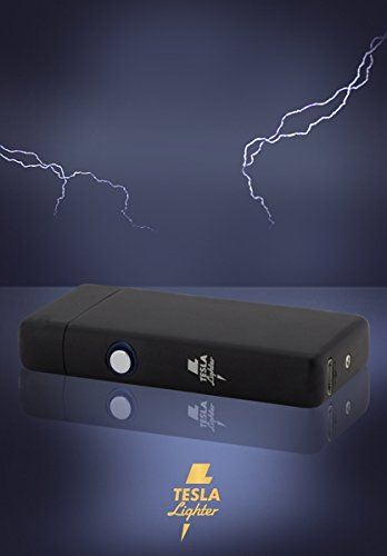 Tesla Lighter T08 Lichtbogen Feuerzeug USB Feuerzeug Arc Lighter elektronisches Feuerzeug wiederaufladbar Double-Arc Schwarz matt - 4