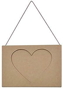 EDUPLAY 200072 - Juego de Marcos de Fotos (3 Piezas, 16 x 11 x 0,4 cm), diseño de corazón