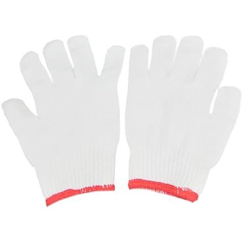 2 pares blanco protege de invierno de punto alicates de precisión para trabajo seguro anti-estático guantes de