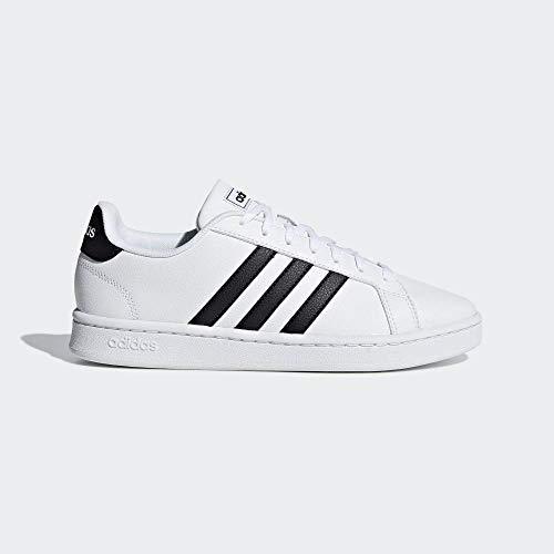 Adidas Grand Court, Damen Hallenschuhe, Weiß (Ftwbla/Negbás/Ftwbla 000), 42 EU (8 UK)