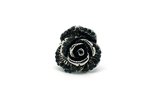 Preisvergleich Produktbild De-Cos Japanese Anime Kuroshitsuji / Black Butler Cosplay Accessory Silver Black Gemstone Ring #02