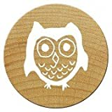 Woodies Mini Stempel Eule, Holz, 1,5 x 1,5 x 3 cm