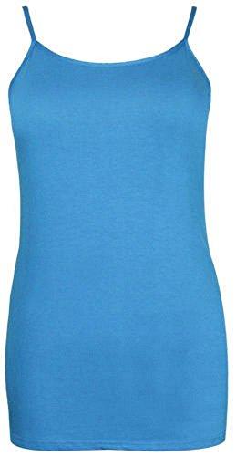 Femmes Plus Size bretelles camisole Vest Tank Top d'été stretch pour femmes 42-56 Turquoise