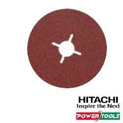 Hitachi 753512 - Discos de Lija para amoladoras angulares 125 mm grano 24 para INOX, 1 unidad
