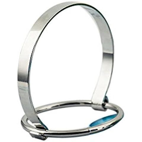 QHGstore Bracciale della lega di modo minimalista stile creativo argento Wristband stile semplice - Lega Wristband