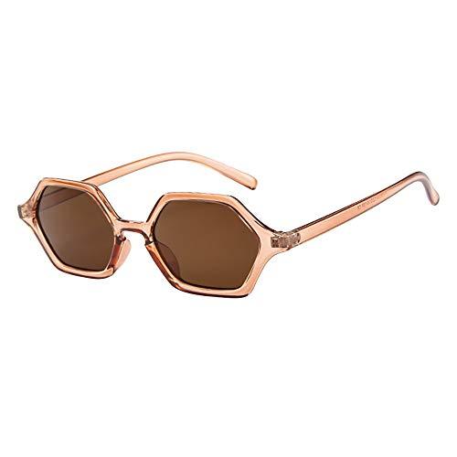 Dorical Unisex Sonnenbrillen Herren und Damen Mehrfarbig Mode Vintage Sonnenbrille/Frauen Männer Jahrgang Retro Brille Irregulär Rahmen Sonnenbrille Brillen Promo