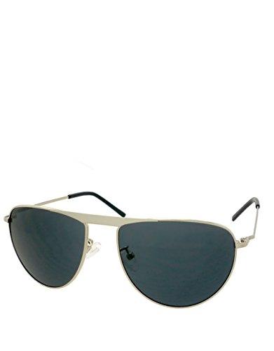 Preisvergleich Produktbild Trost Style Sonnenbrille, Silber / Blau Rauch Spiegel Linse