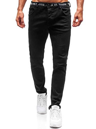 BOLF Herren Jeanshose Freizeit-Hose Casual Style Breezy 3036 Schwarz 31/34 [6F6] | 05902646949307