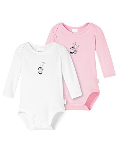 Schiesser Mädchen 2pack Baby Bodies 1/1 Body, Mehrfarbig (sortiert 1 901), 56 (per of 2 -
